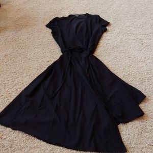 Eileen Fisher black wrap dress, medium
